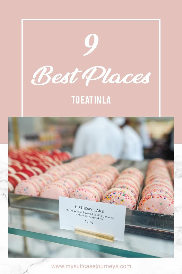 From breakfast, lunch, and dinner to desserts and pastries even, here are a few places to eat in LA that you absolutely cannot miss on your next U.S. trip!