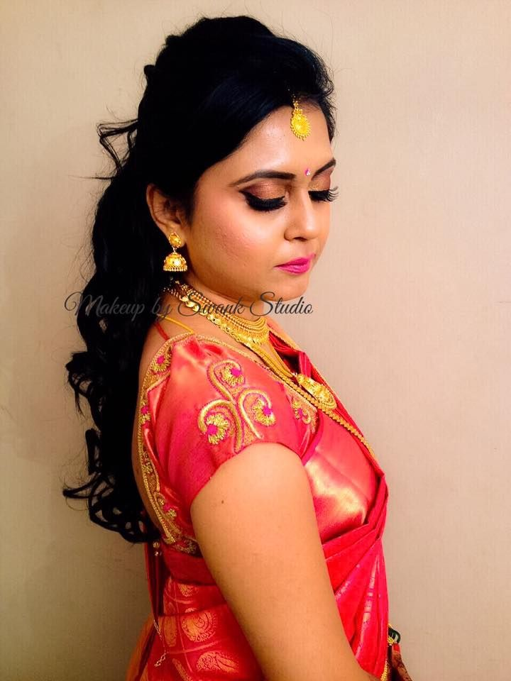 Deepthi For Reception Makeup And Hairstyle By Swank