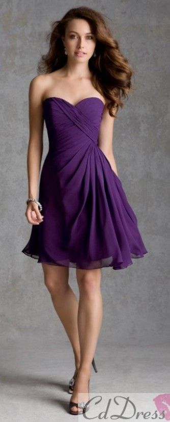 These are cute! It would be nice to have straps though so we don't have to be strapless all night… BRIDESMAID DRESS!