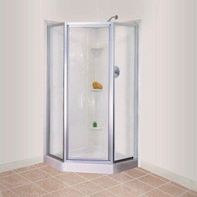 one piece corner shower stalls - Corner Shower Stalls