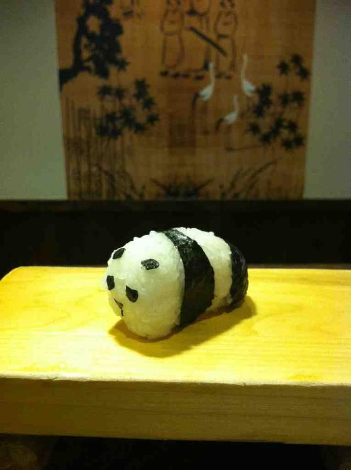Panda Sushi. A master sushi chef could prob make the spine and organs so when you cut it you get all the panda.