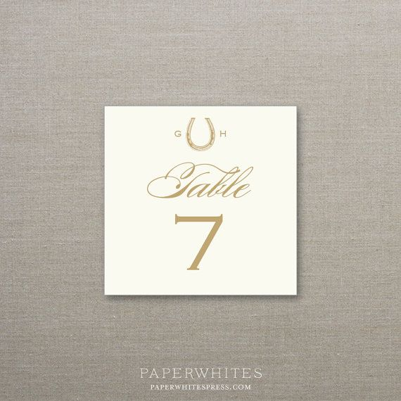 Equestrian horseshoe table numbers
