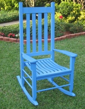 Blue Rocking Chair. Think Of Doing This To My Rocker In Lighter Blue.
