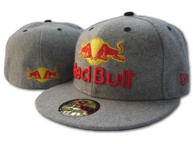 New Era Red Bull Fitted Hats Grey