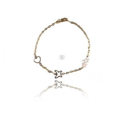 Βραχιόλι λευκόχρυσο και χρυσό #bracelet #whitegold #gold #woman #classic #chic