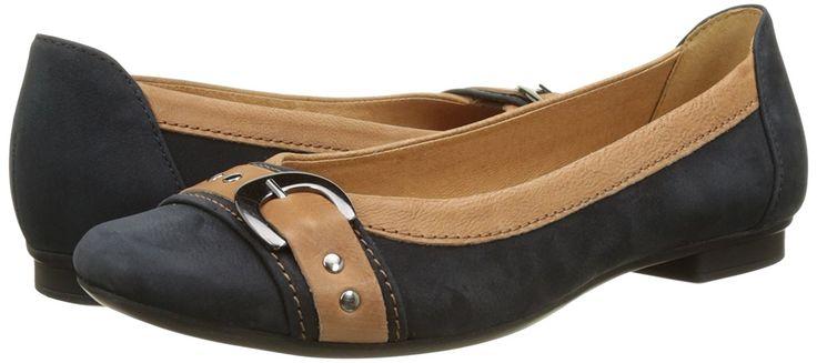 Gabor Shoes Damen Fashion Geschlossene Ballerinas, Blau (Nightblue/Cognac 30), 44 EU: Amazon.de: Schuhe & Handtaschen