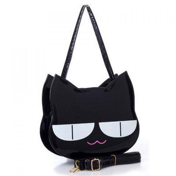 Casual Cat And Patent Leather Design Women S Shoulder Bag Handbags Onlinehandbags