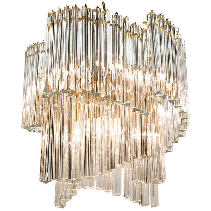 """Long Dining Room Chandeliers: Exceptional Venini Spiral Chandelier With 12"""" Long"""