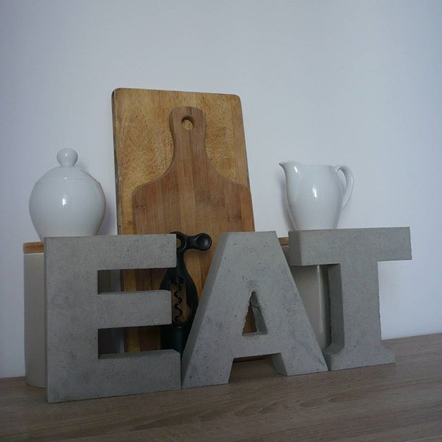 #eat #tea #beton #betonart #litery3d #napisy #concrete