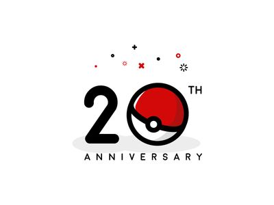 20th pokemon anniversary - Graphic Design Logo Ideas