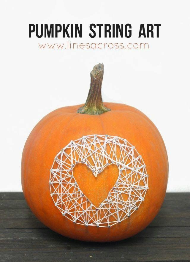 """""""Lines Across"""": Pumpkin String Art"""
