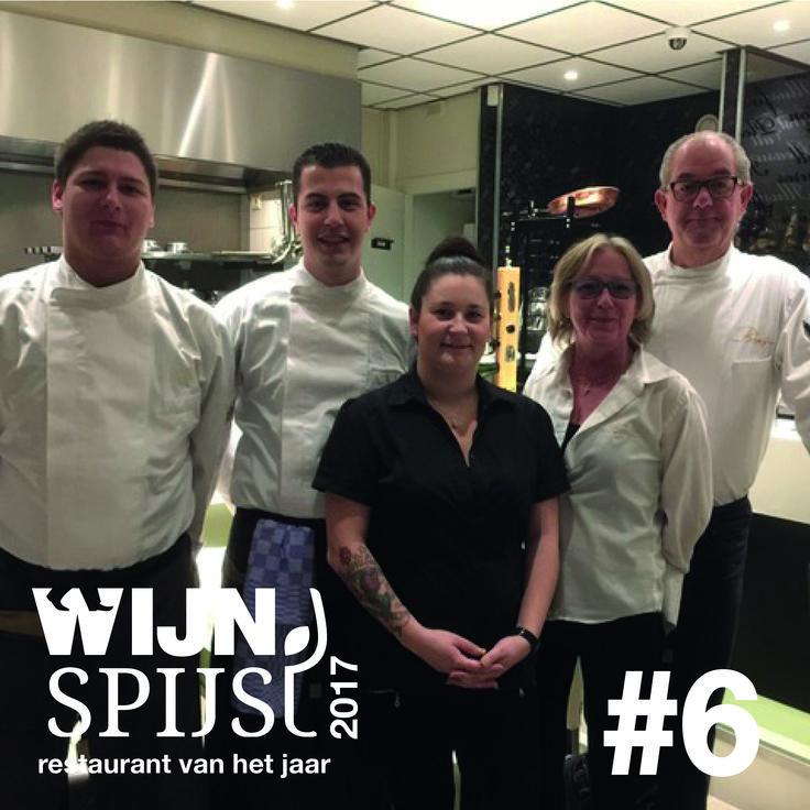 Wijn Spijs Restaurant van het Jaar 2017 de top 10!   Op no. 6 Bij Brons in Almere
