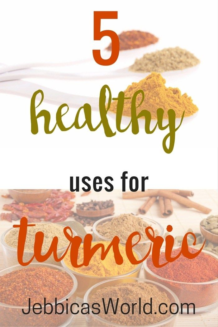 Eating turmeric is also said to have a lot of health benefits, such as it is a natural anti-inflammatory, it has powerful antioxidant effects, and is even said to lower your risk of brain disease, heart disease, and cancer. Here are some healthy uses for turmeric as well as ways to get more turmeric in your diet! via Jebbica's World