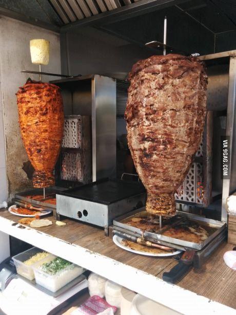 Al Pastor pork  Carne De Res beef Vertical Rotisserie