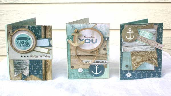 Beach Themed Shaker Cards Tutorial. Learn how to make a shaker card with the shaker on the inside.