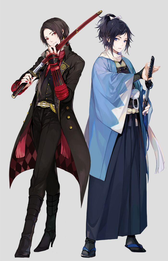 Kashuu and Yamatonokami // Touken Ranbu