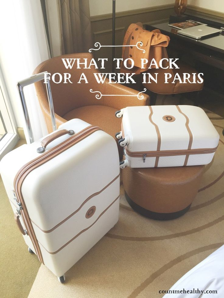What to pack for a week in Paris. A complete checklist of essentials for a safe and stylish trip.