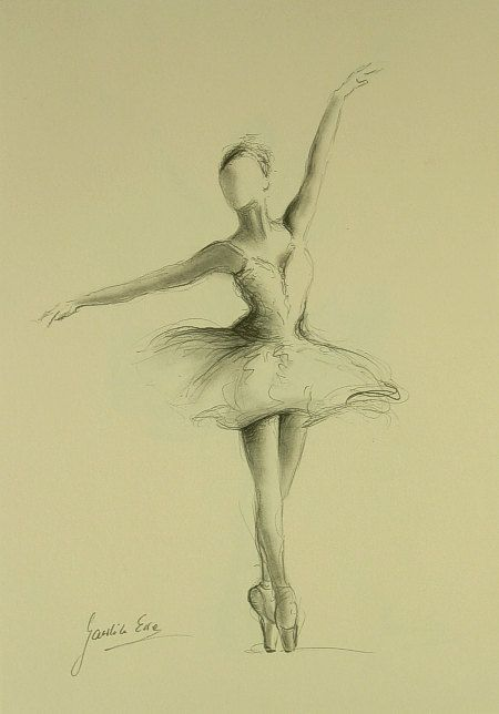 ORIGINAL pencil drawing 11 x 8 1/4 of BALLERINA by by EwaGawlik that was really hard to do too somebody had to hold me still