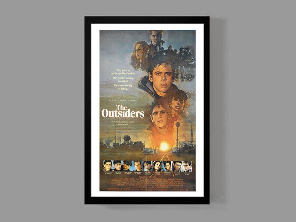 The Outsiders - Stay Gold Ponyboy Greasers - Movie Cult Classic Teen Drama Film 80's by MusicAndArtCoUSA on Etsy