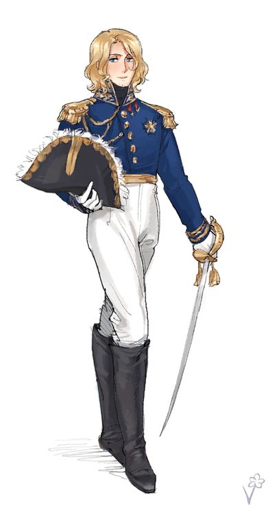 "God, I love France art like this. (""Francis during the Napoleonic Wars - Art by vuri.tumblr.com"")"