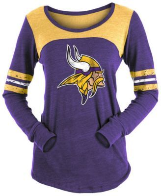 d1196589ca3 5th   Ocean Women s Minnesota Vikings Tri-Blend Distressed Long Sleeve T- Shirt - Purple XXL