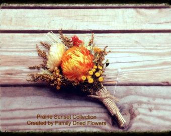 Prairie Sunset Collection Wrist Corsage by DriedFlowersForever
