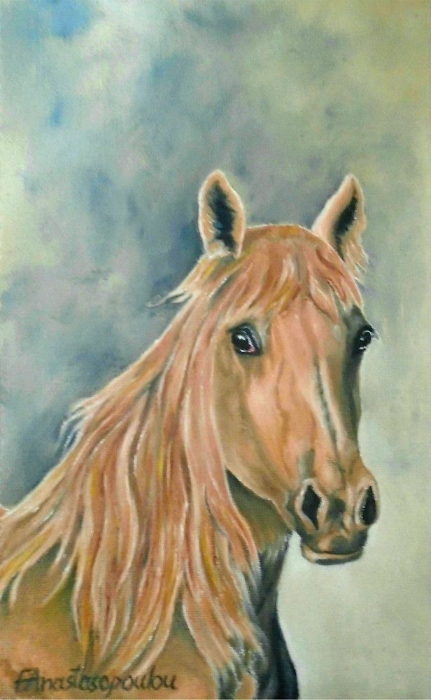 Horse, painting, portrait,realism,brown,golden,colors,equine,animal,wild,wildlife,head,unique,artistic,beautiful,cool,awesome,decor,contemporary,modern,virtual,deviant,unique,fine,art,oil,wall art,awesome,cool,image,picture,artwork,for sale,redbubble