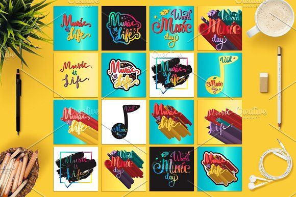 World Music Day Banners by barsrsind on @creativemarket