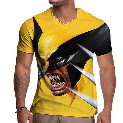 NEW Wolverine 3D Men Marvel DC Comic Sublimated Costume