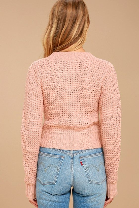 6f9437b41 Campfire Cozy Blush Pink Cropped Sweater