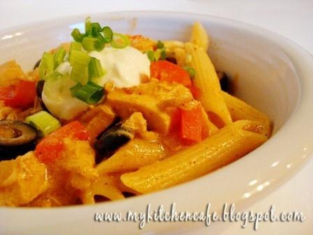 Mexican food + pasta= genius!