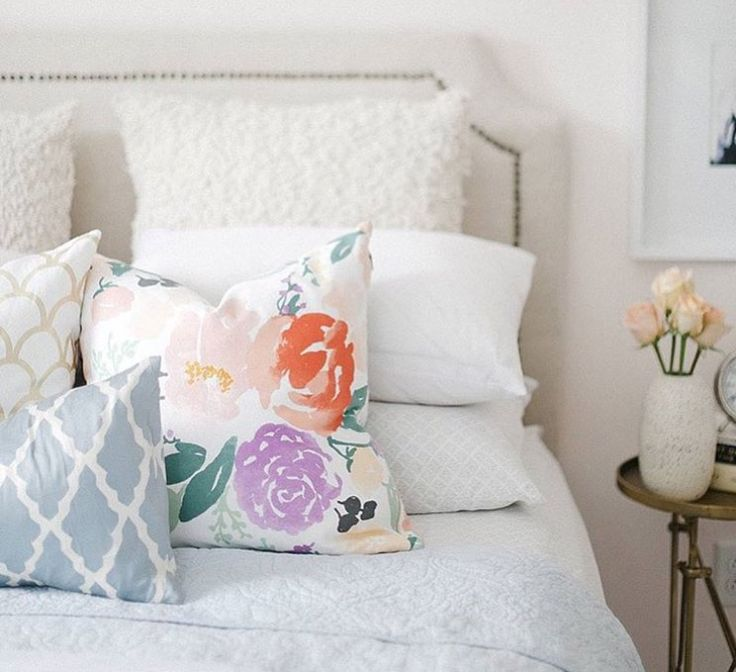 Caitlin Wilson | Bridge City Blooms on White Pillow