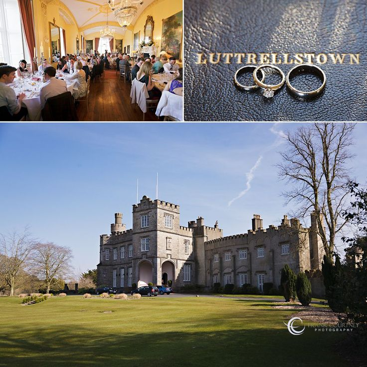 View of Luttrellstown Castle, Wedding Rings and the reception room