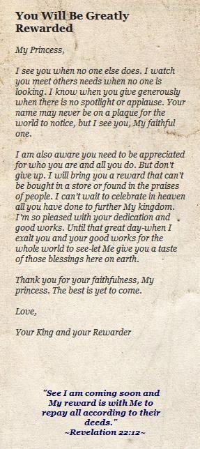 His princess, Love letters