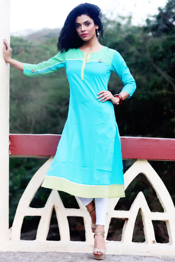 New Arrival Sky Blue Aggressive Fludic Cotton Readymade Indo-Western Kurti. Buy Now :- http://goo.gl/dDrZ2j To Order you Call or Whatsapp us on +91-95121-50402. COD & Free Shipping Available only in India.