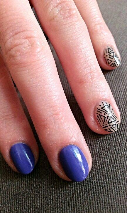 Purple tribal nails