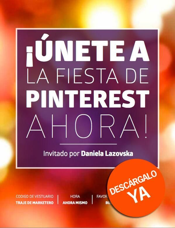 ¿Quieres saber más sobre Pinterest marketing? Dale clic a la foto y descarga gratis mi ebook