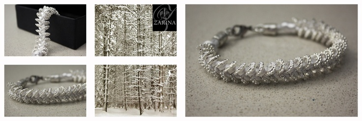 """""""SNOW"""" Pulsera de hilo de seda trenzado con cuentas.  Exclusive by ZARINA   Info.zarinadesigns@gmail.com"""
