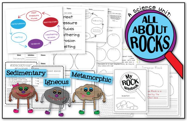 All About Rocks! A Science Unit!