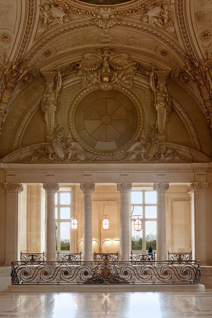 Vintage french cafe interior - Caf Mollien The Louvre Under New Light By Mathieu Lehanneur Light Househistoric Architectureinterior Architecturefrench