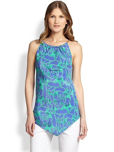 It's not easy to find Lilly Pulitzer on sale, so it's awesome right now that Saks has an additional 25% coupon code!  This Cabana Silk Halter in Loopy (one of my favorite prints!) is only $118 if you use code FRNFAM