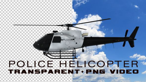 Police Helicopter - Transparent Video