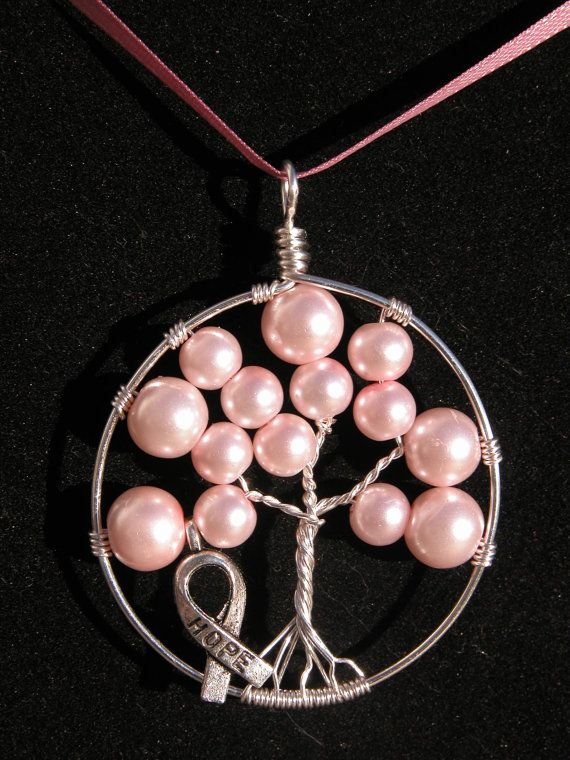 This necklace was made for Breast Cancer Awareness! 100% of the money goes to Maine Cancer Foundation. I donate every to Cans For A Cure. You can see it