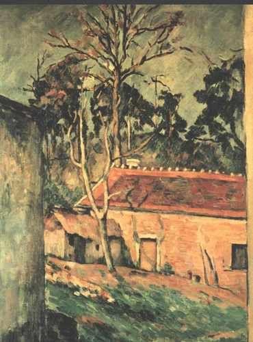 'Farmyard at Auvers' - Paul Cezanne.