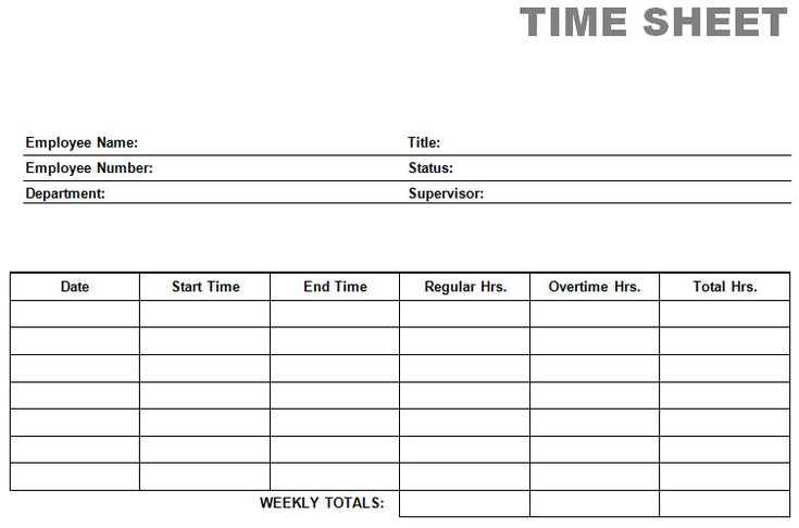 Free Blank Time Sheets Free Time Card Calculator Timesheet – Time Card Template Free