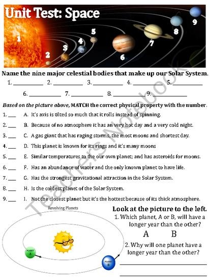 TEST: Our Solar System, Space Exploration and Gravity ...