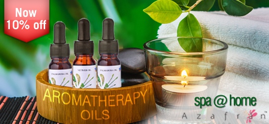 Create your spa @ home with Azafran aromatherapy oils