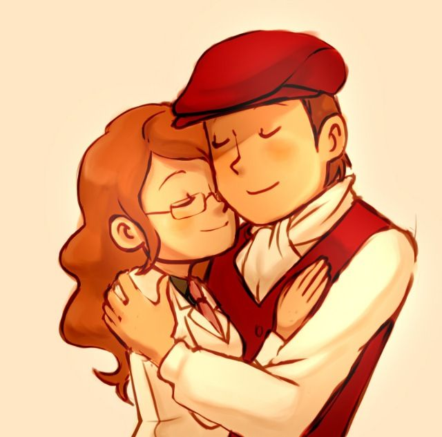 I'm not crying, its just raining in my room. Layton and Claire from Lost Future.
