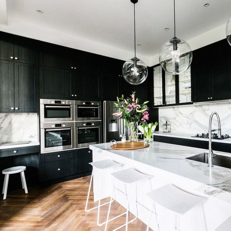 25+ Best Ideas About Black Kitchen Cabinets On Pinterest