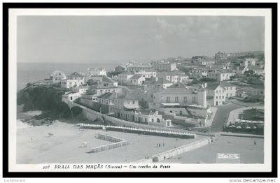 Sintra - take a walk on the wild side: Postais antigos da Praia das Maçãs, Sintra